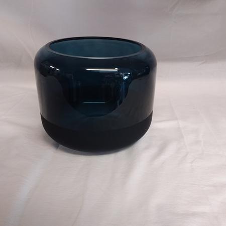 Lugano Navy Glass Vase G3743