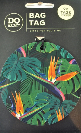Luggage Tags x 2: Bird of Paradise
