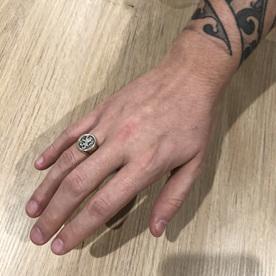 Luke's Signet Ring on His Hand