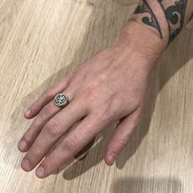 Luke's Signet Ring on His Hand