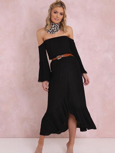 Lulu Maxi Dress - Black