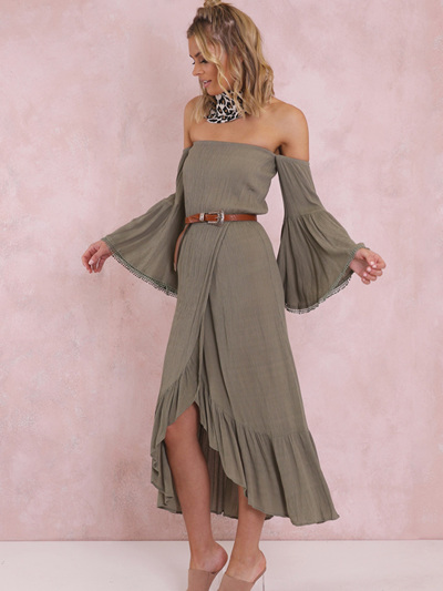 Lulu Maxi Dress - Khaki