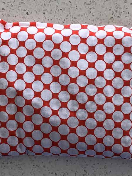Lupin Seed Heat Bag - White Spot Orange