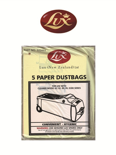 Lux D300 series paper dustbags