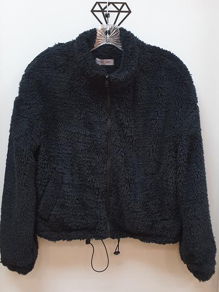 Lydia Faux Sherpa Jacket - Black