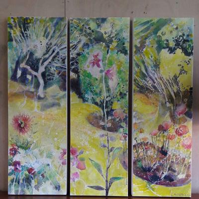 Lynda Mapplebeck Three Screens Triptych