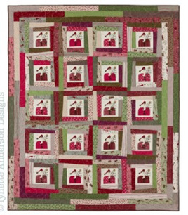 Lynette Anderson Wonky Santa Quilt