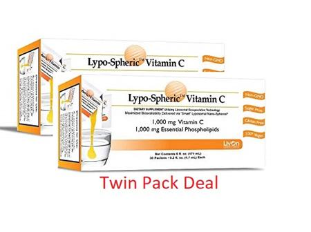 Lypospheric Vitamin C Box Of 30 - Twin Pack Deal!