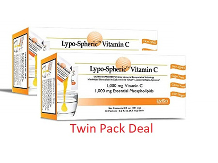 Lypospheric Vitamin C Box Of 30 - Twin Pack Deal!