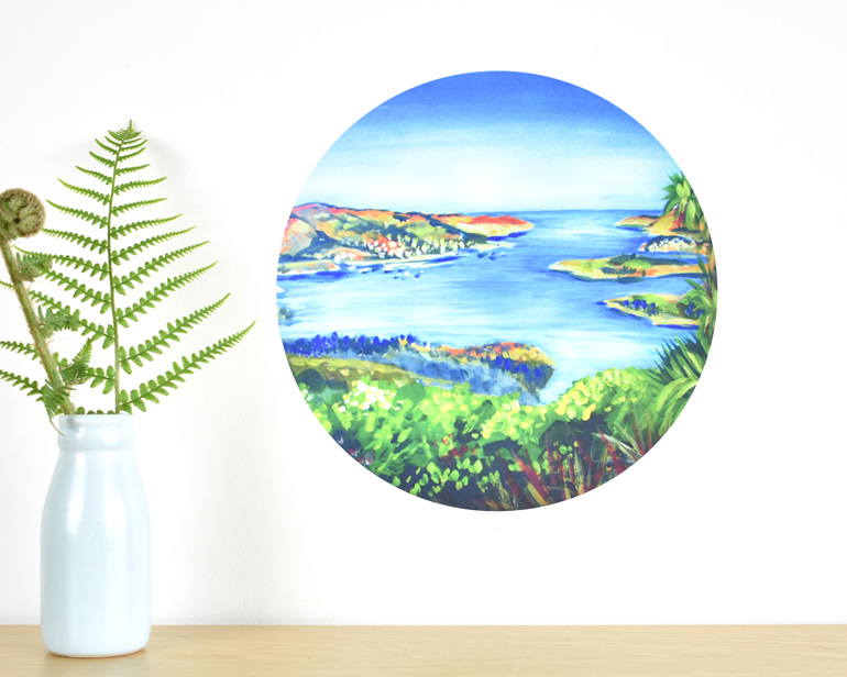 Lyttelton Harbour wall decal