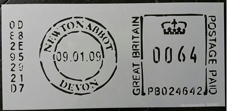 M0043 - Newton Abbot Post Stamp Mudd