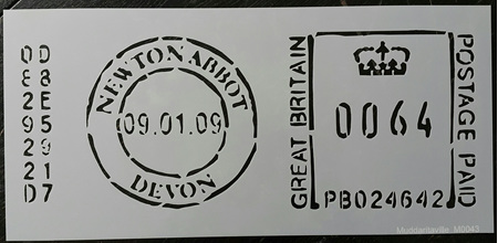 M0043 - Newton Abbot Post Stamp Mudd