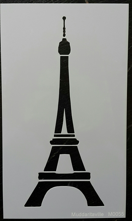 M0055 - Eiffel Tower solid outline Mudd