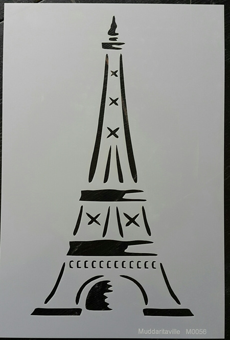 M0056 - Eiffel Tower outline Mudd
