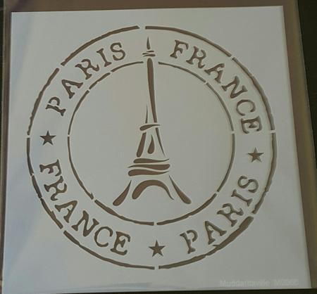M0066 - Paris with Eiffel tower stamp Mudd