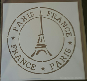 M0066 - Paris with Eiffel tower stamp Mudd