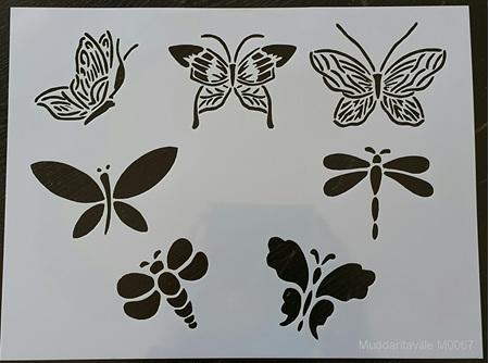 M0067 - Dragonflies and Butterflies Mudd