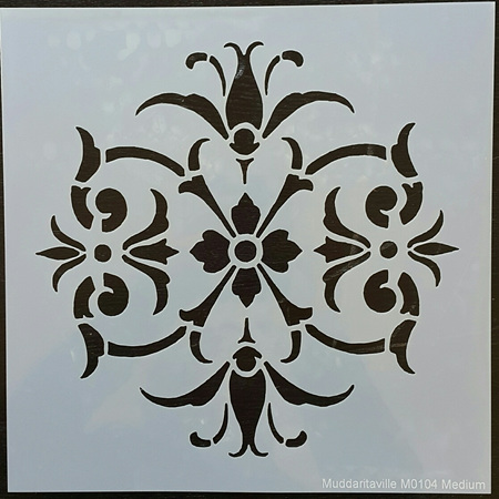 M0104 - Circle Damask(med) Mudd