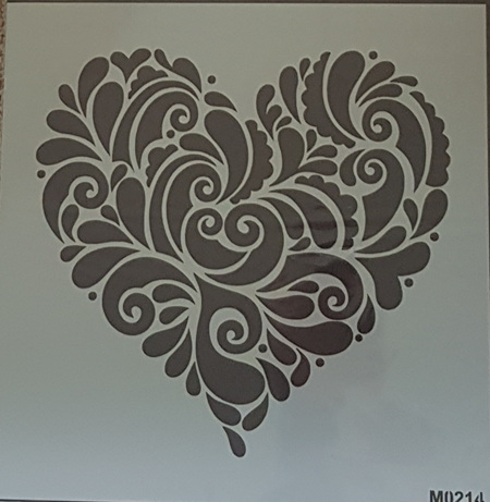 M0214 - Decorative Heart Mudd