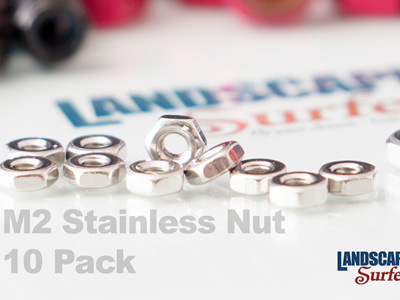 M2 Stainless Steel Nuts - 10 Pack