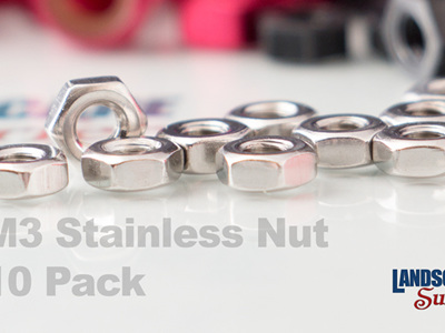 M3 Stainless Steel Nuts - 10 Pack
