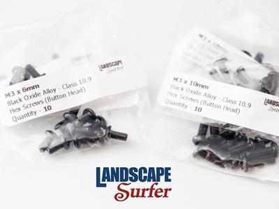 M3 x 10mm - Black Oxide Alloy Hex Screws - 10 Pack