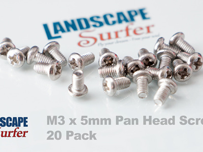 M3 x 5mm Pan Head Screw - 20 Pack