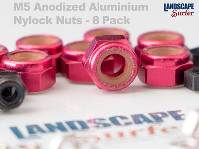 M5 Anodized Aluminium Nylock Nuts - 8 Pack