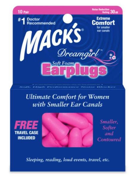 Macks Dreamgirl Soft Foam Ear Plugs 5 Pairs