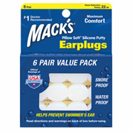Mack's Ear Plugs Pillow Soft  2 pairs 6 pairs in photo