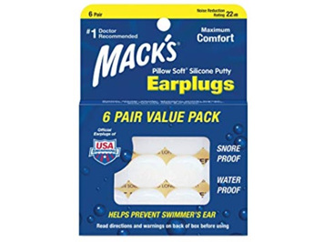 MACKS Ear Plugs Silicone 6pk