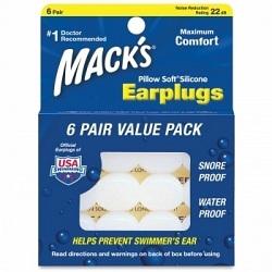 MACKS Ear Plugs Silicone 6pk