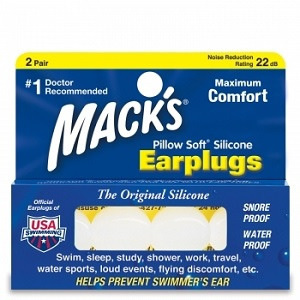 MACK'S PILLOW SOFT SILICONE PUTTY EARPLUGS 2 PAIRS