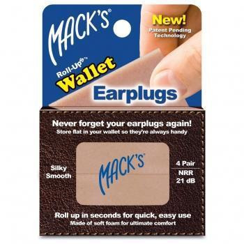 Mack's Roll-Ups Wallet Earplugs 4 Pairs