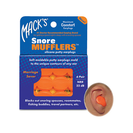 Mack's Snore Mufflers Silicone Putty Earplugs 6 Pairs