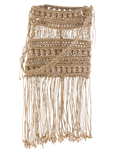 MACRAME TASEL BASE BOHO FESTIVAL BAG CAME