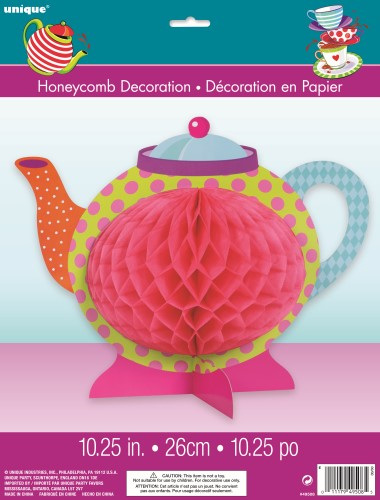 Mad hatter honeycomb teapot centrepiece
