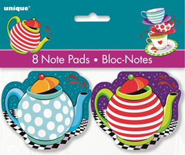 Mad hatter notepads (pack 8)