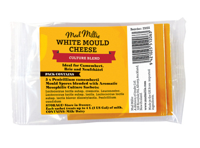 Mad Millie White Mould Cheese Culture Blend 5pk
