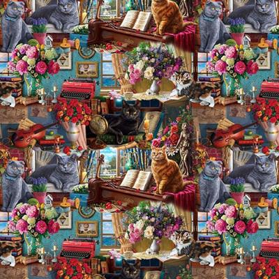 Madame Victoria's Elegant Cats - Vignettes