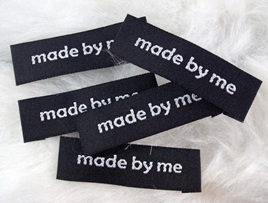 """Made by Me"" Labels x 5: Black"