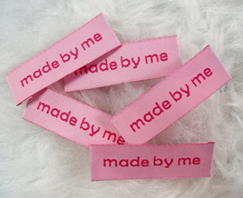 """Made by Me"" Labels x 5: Pink"