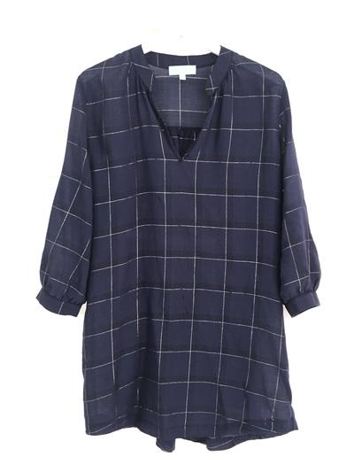 Madelyn Shirt Dress Blue Check