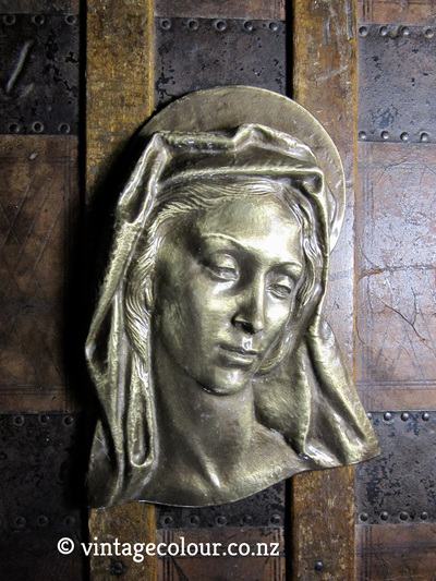 Madonna Virgin Mary Metal Plaque
