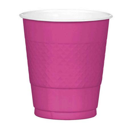 Magenta plastic cup x 20.