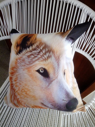 MAGESTIC WOLF HEAD Cushion Covers