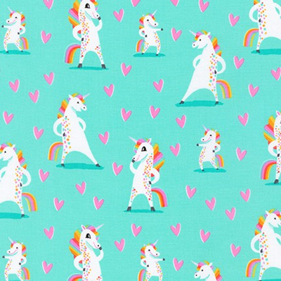 Magical Rainbow Unicorns - Mint