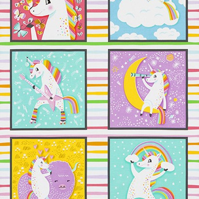 Magical Rainbow Unicorns - Square Panel