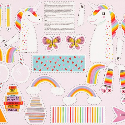 Magical Rainbow Unicorns - Unicorn Toy Panel