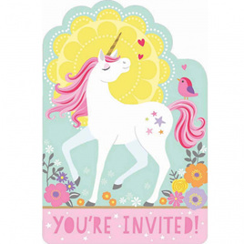 Magical unicorn invites x 8